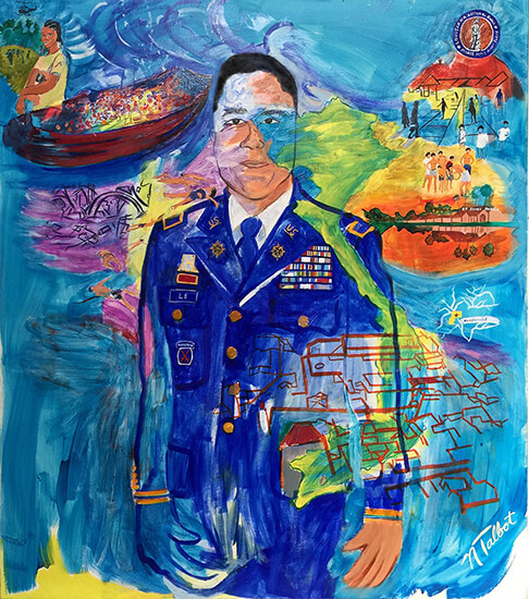painting, Chief Warrant Officer Andrew Le, by Nina Talbot