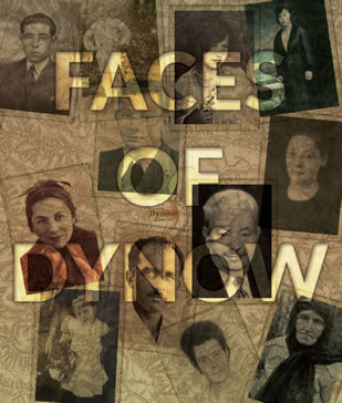 Book cover of Faces of Dynow by Nina Talbot.